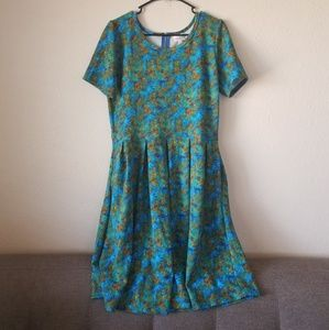 LulaRoe Leaf Print Dress with Pockets!
